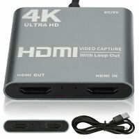 4K 1080P HDMI to USB 3.0 Video Capture Card for Games Recording Live Streaming