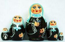"Nuns Nesting Stacking Dolls 4"" Fast Shipping"