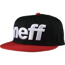 Neff Snowboarding Sport Snapback Wool Blend Black Red Ball Hat Cap New NWT