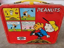Peanuts Charlie Brown, Snoopy, Lucy, Woodstock, Charles Schulz vintage Lunch Box