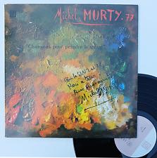 """Vinyle 33T Michel Murty  """"Chanson pour peindre le temps"""" - dédicace authentifié"""