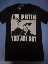 Black Vladimir Putin tee shirt 73cm length