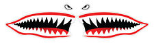 2 x Large Cartoon Shark Mouth/Teeth-  funny kids, car, van decal sticker