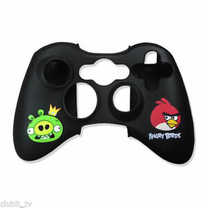 Angry Birds Xbox 360 Controller Pad Silicon Skin Gamer pad Wrap in Black New