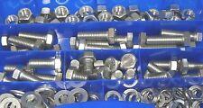 boîte d'assortiment Grande 140 pièces vis acier inoxydable écrous M10 DIN 933
