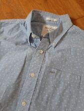 Abercrombie  & Fitch blue Shirt Size M free P&P