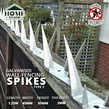 Galvanised Security Wall Solid Fencing Spikes 1.25M(L)x45MM(W)x85MM(H)x2MM(T)