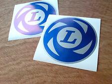 """British Leyland """"L"""" de Plata Clásico coche Retro Calcomanías Stickers 2 Off 100mm"""