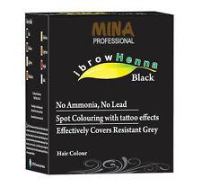 Mina Ibrow Henna Black Refill Pack Tint Kit For Eyebrow Color 100 application
