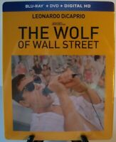 The Wolf of Wall Street Blu-ray/DVD Target Exclusive Steelbook Scorsese DiCaprio