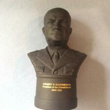 "Wedgwood Black Basalt Dwight D. Eisenhower 8 1/2"" bust ca. 1971"