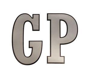 GP Letter Silver Sticker Fits Lambretta Legshield Vintage Style Decal LT7