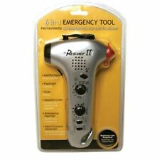 Multifunctional Emergency Hammer with Radio, Seat Belt Cutter, Hand Cranked Lamp