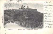 CPA ITALIE LORETO BASILICA DELLA S.CASA DALLA STAZIONE (dos non divisé)