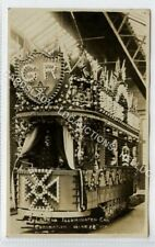 (Ld8146-473) RP, LEEDS, Illuminated Car, Coronation 1911  Unused G-VG