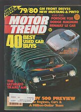 Motor Trend Magazine May 1978 Mustang Pinto Porsche Dodge Le Car Trans Am