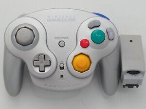 Platinum Silver Wavebird Official Nintendo GameCube Wireless Controller