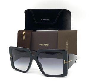 Tom Ford QUINN FT0790 01B Black / Smoke Gradient 57mm Sunglasses TF0790