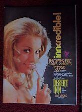 1971 Print Ad Desert Inn Hotel Casino Las Vegas ~ Pretty Girl The SWING INN Deal