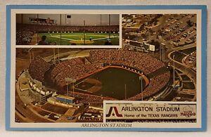 Vintage MLB Texas Rangers Arlington Stadium Collectable Postcard