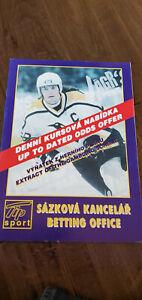 1999 JAROMIR JAGR SPORTS BAR CZECH REPUBLIC BETTING OFFICE PROGRAM PENGUINS