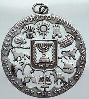1961 ISRAEL Anniversary BAR MITZVAH Tribes Vintage Silver Israeli Medal i91238