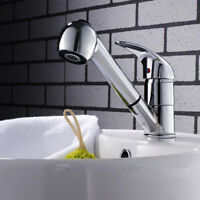 Home Kitchen Tap Single Lever Mixer Faucet Sink Mixer With Pullout Spray CH