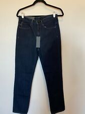 Helmut Lang Relaxed Tapered Jeans Dark Blue Wash Denim Jeans Women's 25 NWT $310