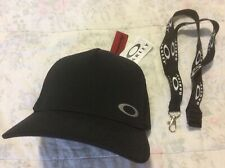 Oakley Golf Mens Ladies New Black Hydrolix Olle Cap Hat 🧢 + Black Lanyard  RARE