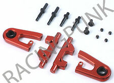 RC Car Hop Up Alloy ADJUSTABLE FRONT UPPER ARMS Fit TAMIYA TT01 TT01E Camber RED