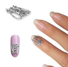 Silver Charms Nail Art Supplies