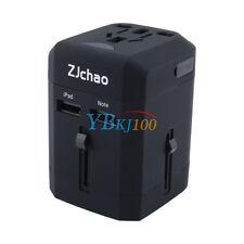 New Universal USB World Travel US AU EU UK Adapter Plug 2500mA Converter Charger