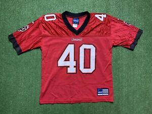 Vtg Adidas Mike Alstott Tampa Bay Buccaneers NFL #40 Football Jersey MISPRINT