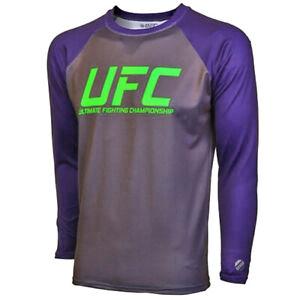 UFC TUF Team Melendez Rashguard - Grey/Dark Plum