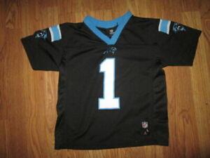 Boys NFL TEAM APPAREL CAROLINA PANTHERS #1 NEWTON jersey sz 7 football