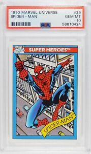 1990 Marvel Universe #29 SPIDER-MAN Gem Mint PSA 10
