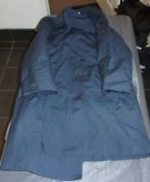 USAF US AIR FORCE BLUE MANS ALL WEATHER TRENCH OVER COAT W/ LINER 42 SHORT 42s