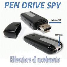 PENDRIVE SPIA NASCOSTA PEN DRIVE USB SPY MICROCAMERA CIMICE VIDEOCAMERA FOTO