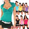 Top maglia donna jersey effetto bolero maglietta colorata IS-SM100