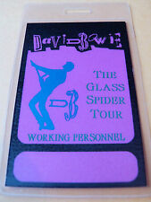 David Bowie Glass Spider Tour (Laminated Working Personel Pass)