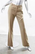 CHRISTIAN DIOR Womens Taupe Pinstripe Wide-Leg Pants Slacks Trousers 6/38 NEW