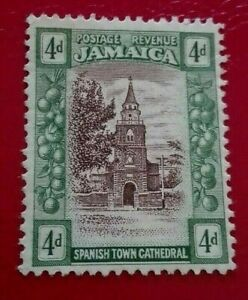 Jamaica:1920 -1921 Local Motifs  4 P. Rare & Collectible Stamp.
