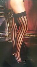 Sexy Black Striped Stockings Queen Size