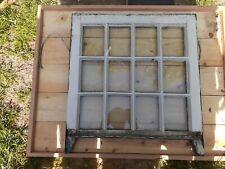"c1900 unique vintage 12 pane window sash OLD glass 26"" x 23 3/4"" x 1 1/2"