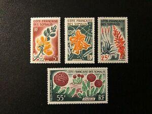 SOMALI COAST 1966 Fruits , Flowers , Sc # 306-308 - c41 , MNH **