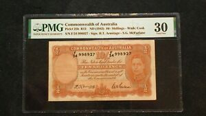 1942 COMMONWEALTH OF AUSTRALIA PMG VF30 TEN SHILLINGS NOTE 10S Bill BUY IT NOW!