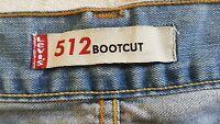 Jeans Levi Strauss 512 W38 Azul piedra bootcut 507.527 (bc.13)