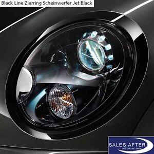 Original MINI R55 R56 R57 R58 R59 Zierringe Scheinwerfer Ringe Blenden Blackline