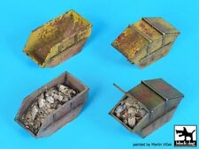 Black Dog 1/72 Rubble Dumpster Containers (4 different types) [Diorama] D72044