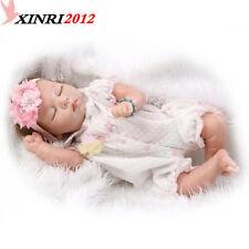 "22""  Simulation Newborn Infant Dolls Silicone Vinyl Reborn Baby Girl Doll Gift"